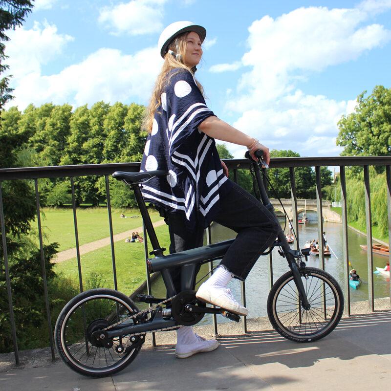 Flit ebike - closca helmet in cambridge