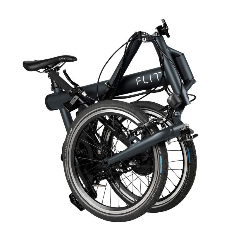 Flit-16 lightweight folding ebike - folded