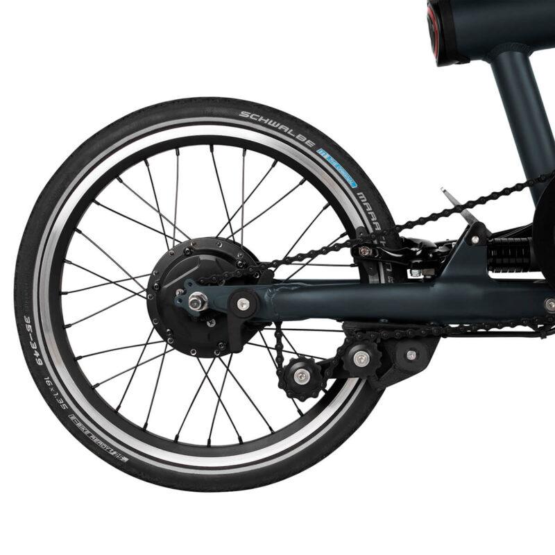Flit-16 lightweight folding ebike - rear wheel