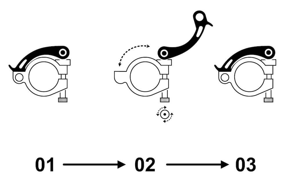 Saddle thumbscrew